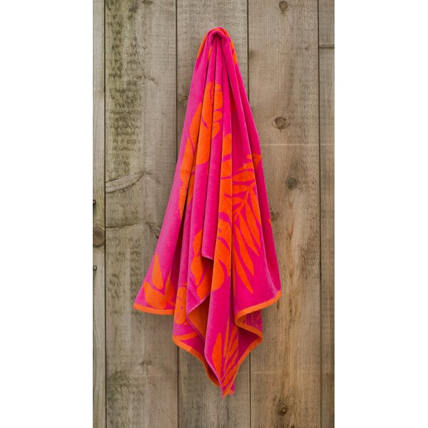 Jacquared Weaved Leaf 100% Cotton Beach Towel by St.Tropez Sands